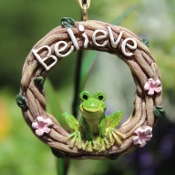 Hoppy Believe Wreath for Miniature Fairy Gardens