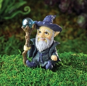 Wizard with Wand For Miniature Fairy Gardens