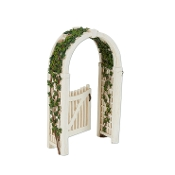 Gated Arbor with Vine for Merriment Miniature Fairy Gardening
