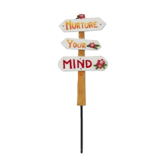 Sale - Nurture Your Mind Sign for Merriment Miniature Fairy