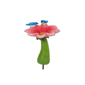 Pink Flower Birdbath for Merriment Mini Fairy Gardening