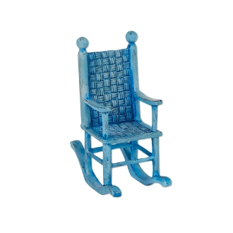 Sale - Blue Rocking Chair for Merriment Mini Fairy Gardening