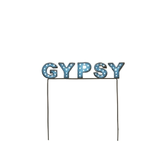 Sale - GYPSY Marquee Metal Sign for Miniature Fairy Gardens