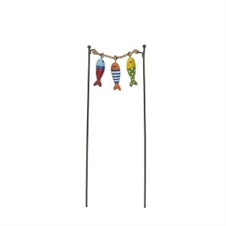 Sale - Colorful Hanging Fish for Miniature Fairy Gardens