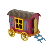 Sale - Gypsy Metal Wagon for Miniature Fairy Gardens