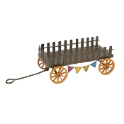 Sale - Farm Wagon for Miniature Fairy Gardens