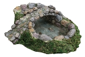 Cobblestone Combo Bridge and Pond For Miniature Fairy Gardens