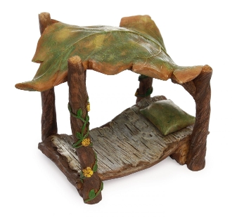 Leafy Canopy Bed For Miniature Fairy Gardens