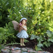 Molly with Butterfly Net for Miniature Fairy Gardens