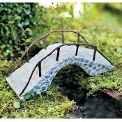 Iron Railed Fairy Rock Bridge Miniature Fairy Gardening