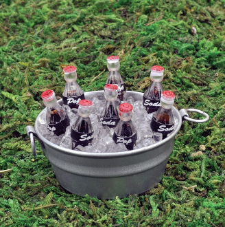 Bucket of Soda Pop on Ice for Miniature Fairy Gardens
