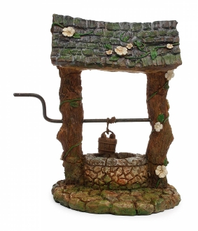 Cobblestone Fairy Wishing Well For Miniature Gardens