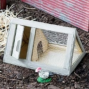 Wooden Chicken Coop for Miniature Fairy Gardens