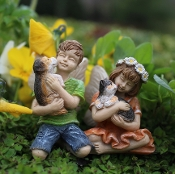 Daisy and Dylan Fairies For Miniature Gardens