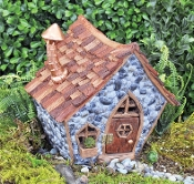 Shingleton Medium Crooked Fairy House for Miniature Gardens