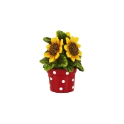 Pot o'Sunflowers for Merriment Mini Fairy Gardening