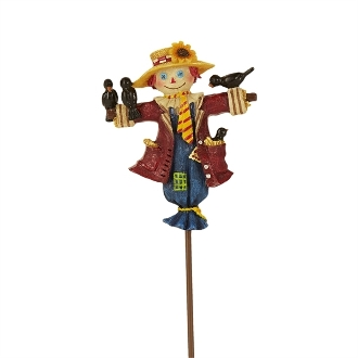 Scarecrow on Pick for Merriment Mini Fairy Gardening