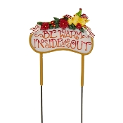 BE WARM INSIDE AND OUT Sign for Merriment Mini Fairy Gardening