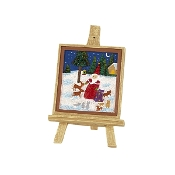 Sale - Winter Scene Easel for Merriment Mini Fairy Gardening
