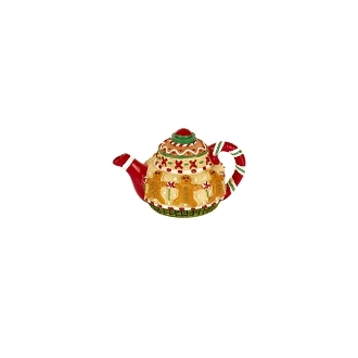 Sale - Winter Teapot for Merriment Mini Fairy Gardening