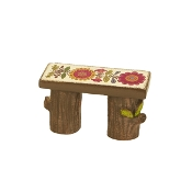 Fairy Wooden Bench for Miniature Gypsy Fairy Gardens