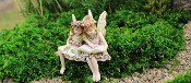 Paige and Phoebe the Fairies for Miniature Fairy Gardens