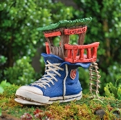 Sneaker Fairy House with Ladder for Miniature Fairy Gardens