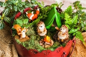 SALE! Hedgehog & Fox Camping Fairy Garden Set