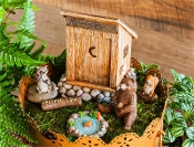SALE! Forest Lane Critters Camping Fairy Garden Set
