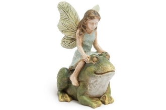 Hopping a Ride Fairy For Miniature Fairy Gardens