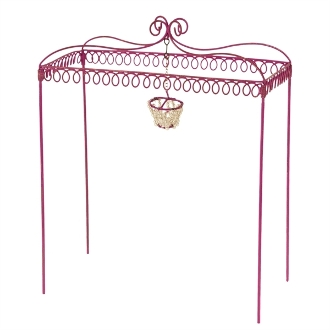 Sale - Pink Iron Gazebo for Miniature Gypsy Fairy Gardens
