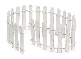 "12"" Long White Fairy Picket Fence for Miniature Fairy Gardens"