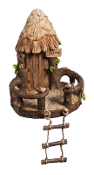 Fairy Tree House with Ladder For Miniature Gardens - EXCLUSIVE