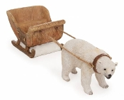 Fairy Polar Bear Sleigh For Miniature Fairy Gardens