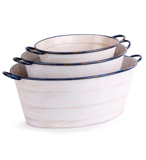 Vintage Metal Tubs for Fairy Gardens - Click Options for Size