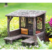 Fairy Picnic Shelter w/Pillows for Miniature Gardens