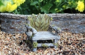 Ivy Leafy Rustic Fairy Chair For Miniature Fairy Gardens