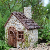 Cobbler's Cottage with Hinged Door for Miniature Fairy Gardens