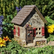 Hummingbird Hideaway House for Miniature Fairy Gardens