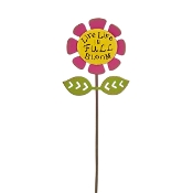 LIVE LIFE IN FULL BLOOM Sign for Gypsy Fairy Gardens