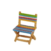 Multi-Colored Beach Chair for Merriment Mini Fairy Gardening