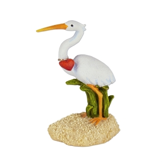 Sale - Sand Crane with Heart for Merriment Mini Fairy Gardening
