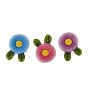 Set/3 Flower Step Stones for Merriment Mini Fairy Gardening