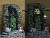 Erin Green Solar Fairy Door for Miniature Fairy Gardens