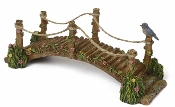 Blue Bird Rustic Bridge For Miniature Fairy Gardens