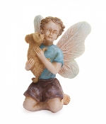 Cale the Fairy with Sven the Puppy for Miniature Fairy Gardens
