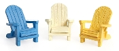 Set of 3 Adirondack Chairs For Miniature Fairy Gardens