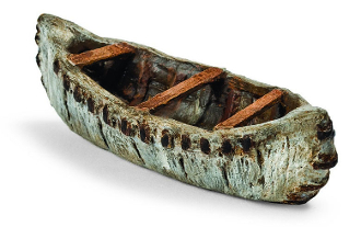 Woodland Canoe For Miniature Fairy Gardens