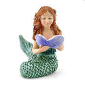 Mermaid with Clam For Miniature Fairy Gardens