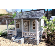 Sweet Home with Double Hinged Doors For Miniature Fairy Gardens